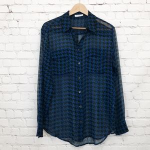 Equipment Femme Houndstooth Blouse Silk